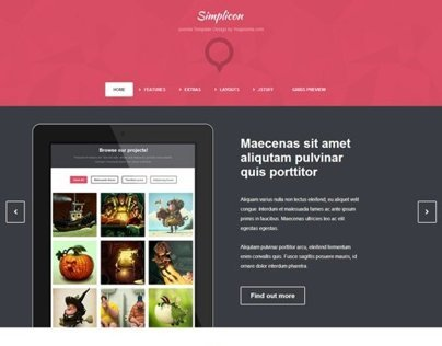 Simplicon Joomla Web Designer Showcase Template