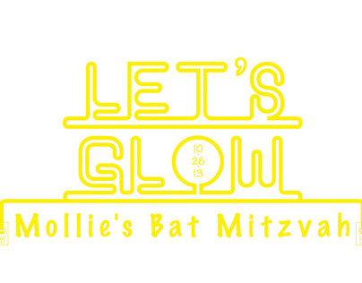 Mollies Bat Mitzvah Logo & Sign In Board