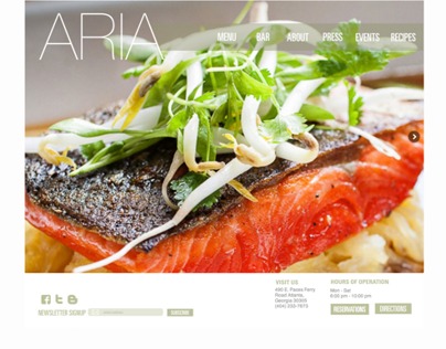 Aria Website Redesign