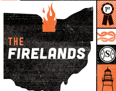 The Firelands Screen Printed Poster