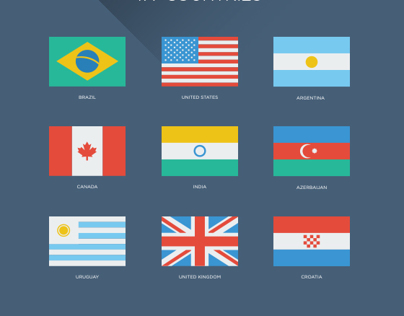 177 Flat World Flags