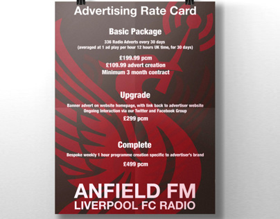 Advertising Poster for Anfield FM / Liverpool FC Radio