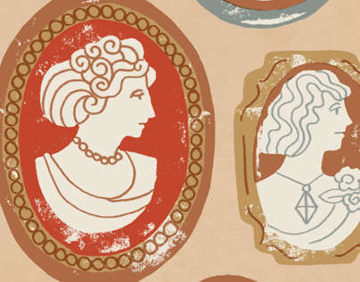 Cameo broaches pattern