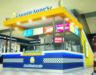 Auntie Anne's City Stars Branch Design