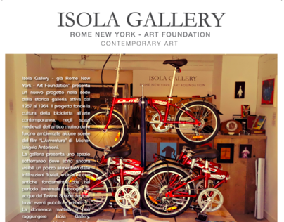 CORPORATE IMAGE ISOLA GALLERY ROME