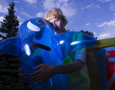 i love my inflatable dolphin