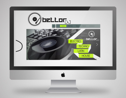 BETTOR DJ - LOGO AND WEB PAGE DESIGN