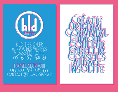 KLD DESIGN BUSINESS CARD