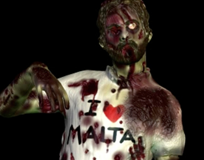 Terry-Terrify sculpted zombie