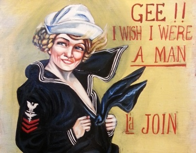 Gee I wish I were a man, Id join the Navy by pallominy