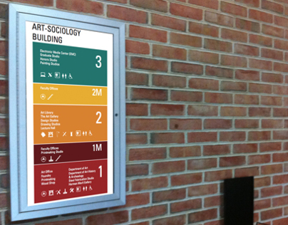 UMD Art and Sociology Building Signage