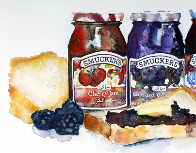 Smuckers product illustration