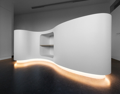Modern illuminated reception counter