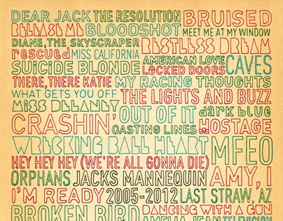 Jacks Mannequin Song Titles Poster