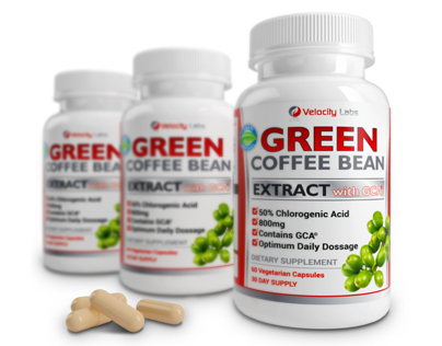 Green Coffee Bean Supplement Visualization