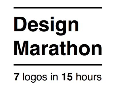 Design Marathon | 7 logos in 15 hours