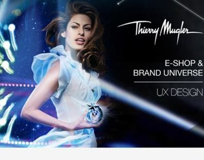THIERRY MUGLER WEBSITE - UX DESIGN