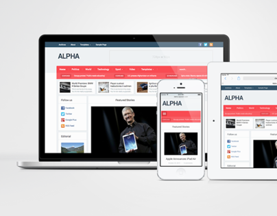 Alpha WordPress 2 Skin Magazine & Newspaper Theme