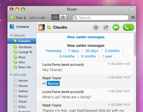 Skype 5 for Mac Redesign