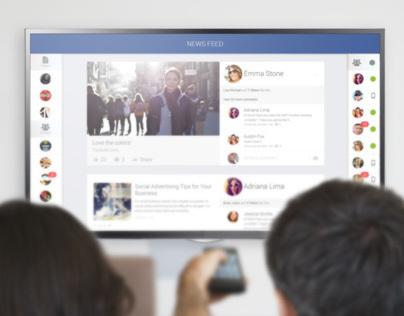 Facebook Smart TV App | UI/UX | User Experience