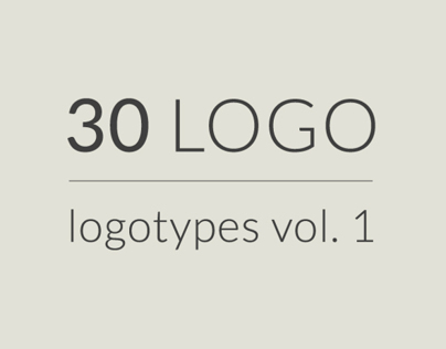 30 logos, logotypes vol 1
