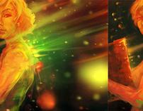 Digital Paintings in Stereo