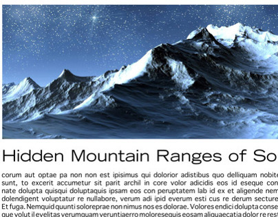 Hidden Mountain Ranges Article