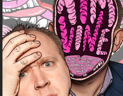 Nuts Magazine- Tim Vine interview Illustration