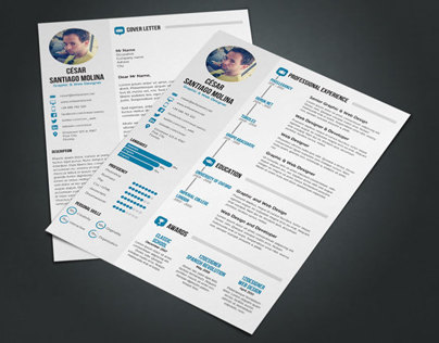 Simple Resume 2 + Cover Letter. A4 and US Letter