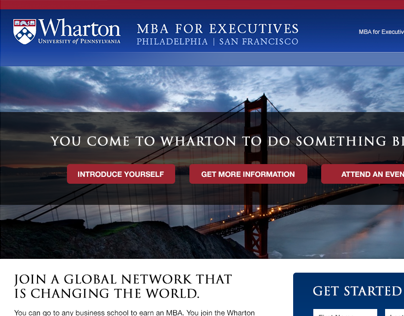 The Wharton School - Executive Education Landing Pages