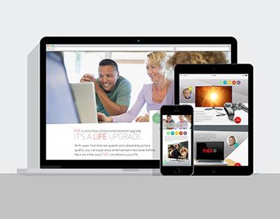 Verizon FiOS Campaign Landing Page