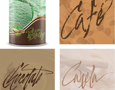 Ice Cream Flavors calligraphic pack