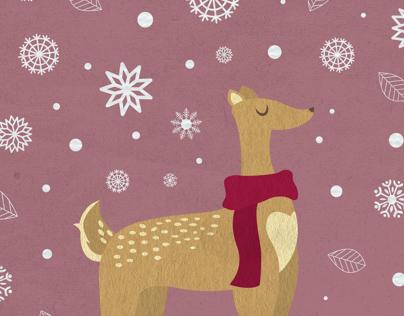 Deer & Snow
