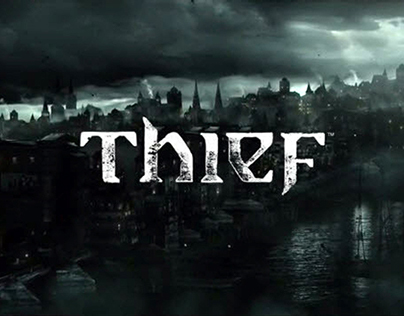 Thief video game, logo and font