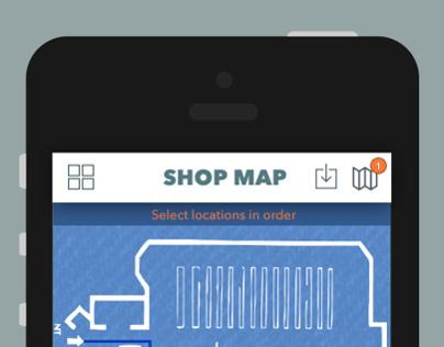 Shop Map Concept