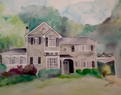 Custom Watercolor House Commissions