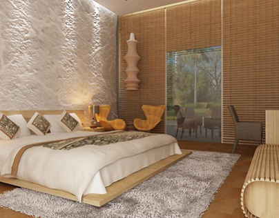 Resort 3d interior render