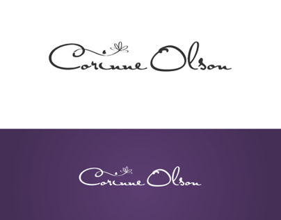 corinne olson logo proposal