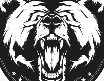 Angry bear/T-shirt design
