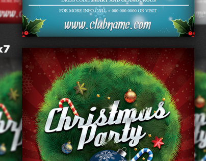 Christmas Party Flyer Templates Bundle