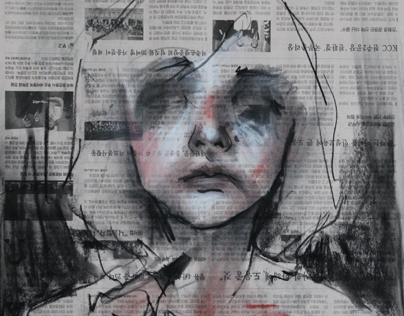 drawings on newspaper
