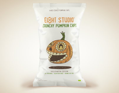 Crunchy Pumpkin Chips - Self-Promotion Packaging