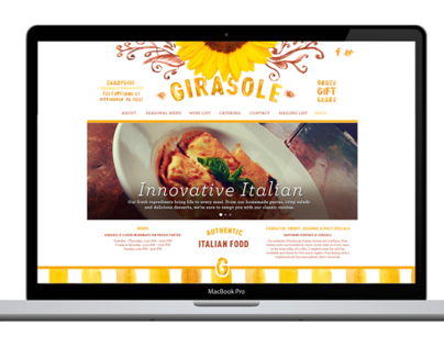 Girasole: Web Design