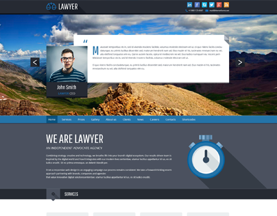 Lawyer - Bootstrap PSD Template