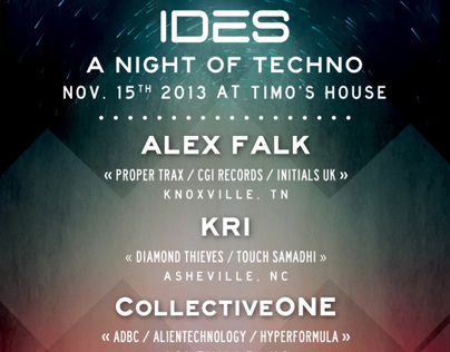 IDES - A Night of Techno - flyer