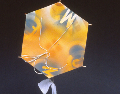 Kite made from Porcelain, Silk and Bamboo