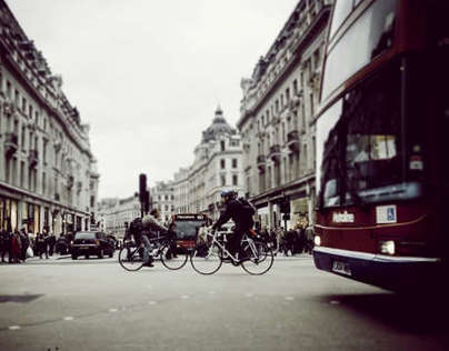 oxford street tilt shift