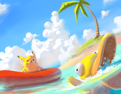 Pokemon Beach!