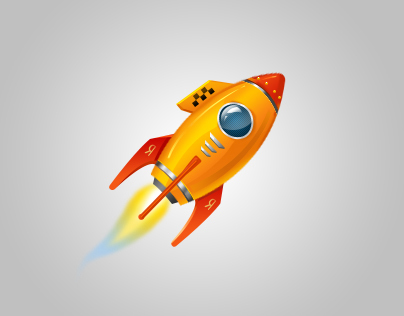 Rocket. Illustration.