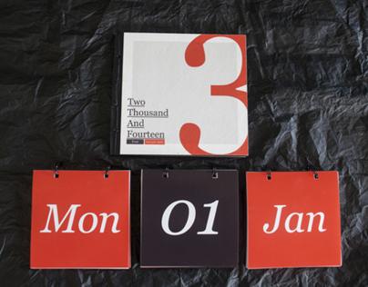 Typography Calendar